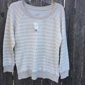 Aerie Sweatshirt. NWT. Oatmeal & Cream. Size L